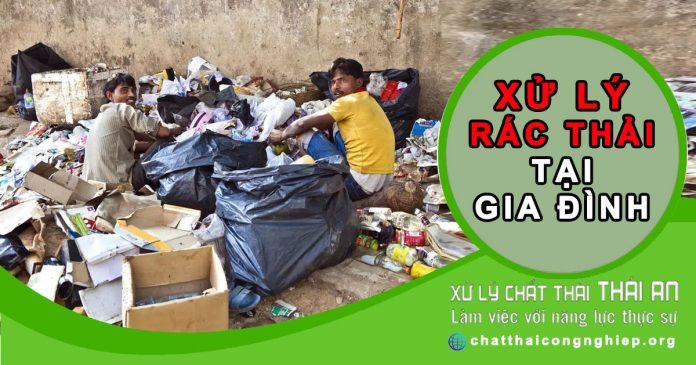 xử lý rác thải sinh hoạt tại gia đình